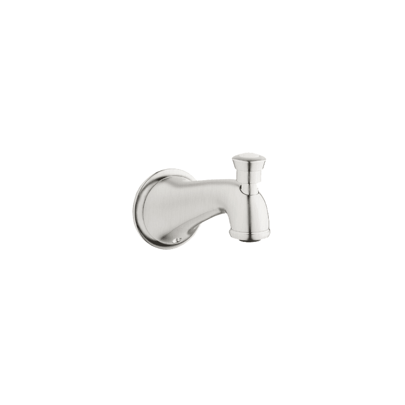 Grohe 13 603 Seabury 6 1 8 Wall Mounted Tub Spout With Diverter Brushed Nickel Accessory Tub Spout Diverter In 2020 Wall Mount Tub Faucet Brushed Nickel Wall Mount