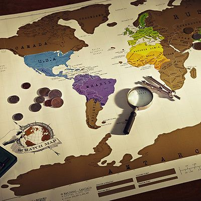 New travel cool vacation log gift scratch off world map creative new travel cool vacation log gift scratch off world map creative poster present gumiabroncs Gallery