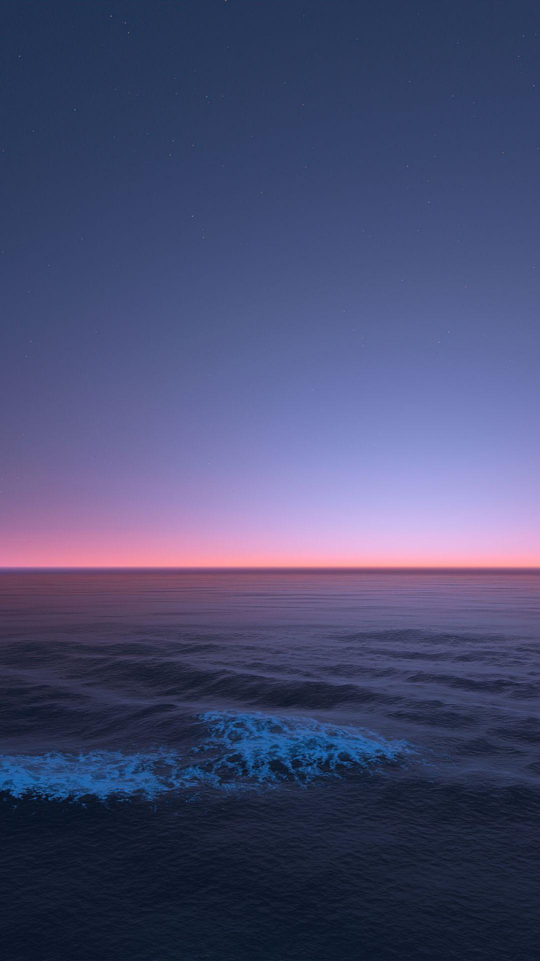 Calm sea, seascape, twilight, nature, 1080x1920 wallpaper