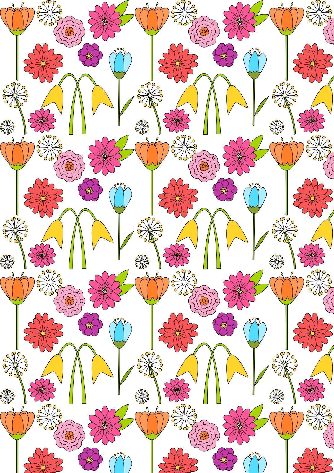 Free Digital Spring Scrapbooking Paper Ausdruckbares