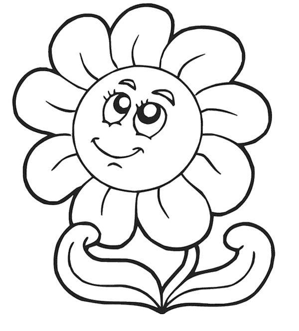Spring Sun Flowers Coloring Pages For Kids Halaman Mewarnai Bunga Lembar Mewarnai Menggambar Bunga
