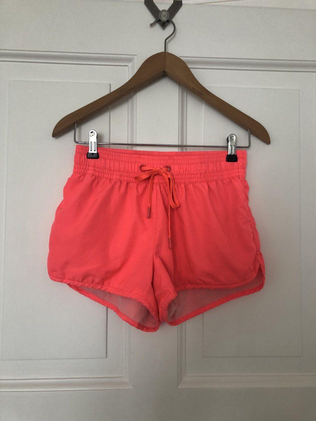 Sport Shorts Koralle leuchtend H&M Sports Size 38 | Mädchenflohmarkt