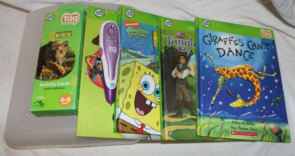 Leap Frog Tag Reading System Pen Lot with Case Animal Activity ...