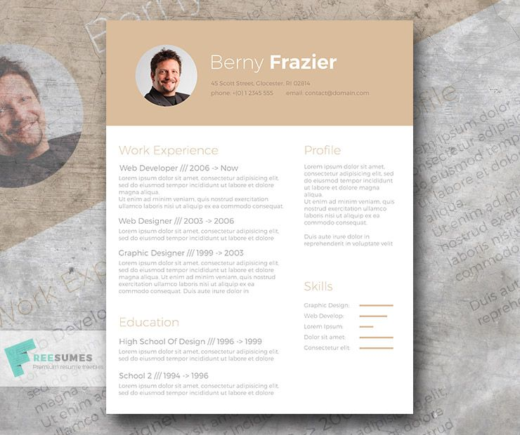 Golden Brown \u2013 A Trendy Resume Template Design for Free
