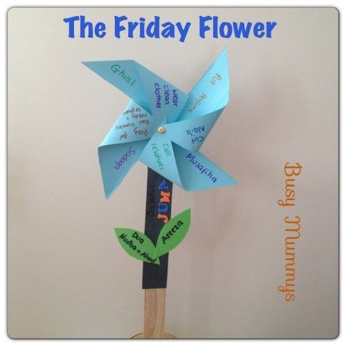 The friday flower recommended and wajib acts of presented in  pin wheel form islamic activities arts  crafts for kids also rh pinterest