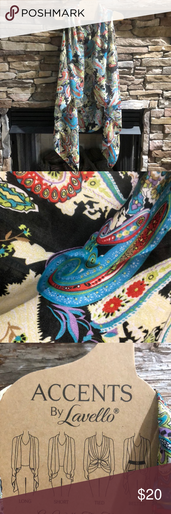 SOLD💥Chiffon vest shawl NWOT Give it to me, Chiffon