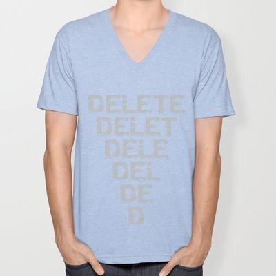 Delete! (Cybermen) - Doctor Who V-neck T-shirt by Lauren Ward  - $24.00