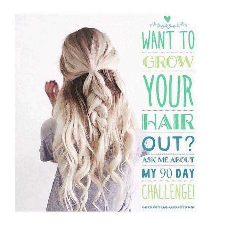 Looking For New Clients Who Wants To Grow Their Hair Out 90 Day Trial With Our It Works Hair Skin Nails Hair Styles Hair Challenge Growing Your Hair Out