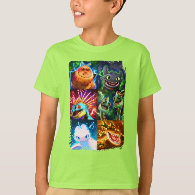 The Hidden World  Glowing Dragons Graphic TShirt
