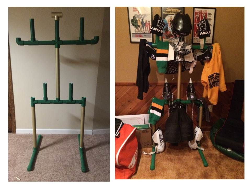 Pvc Hockey Equipment Drying Rack For All Those Smelly Hockey Bits And Bobs The Measurements F Hockey Equipment Hockey Equipment Drying Rack Hockey Drying Rack