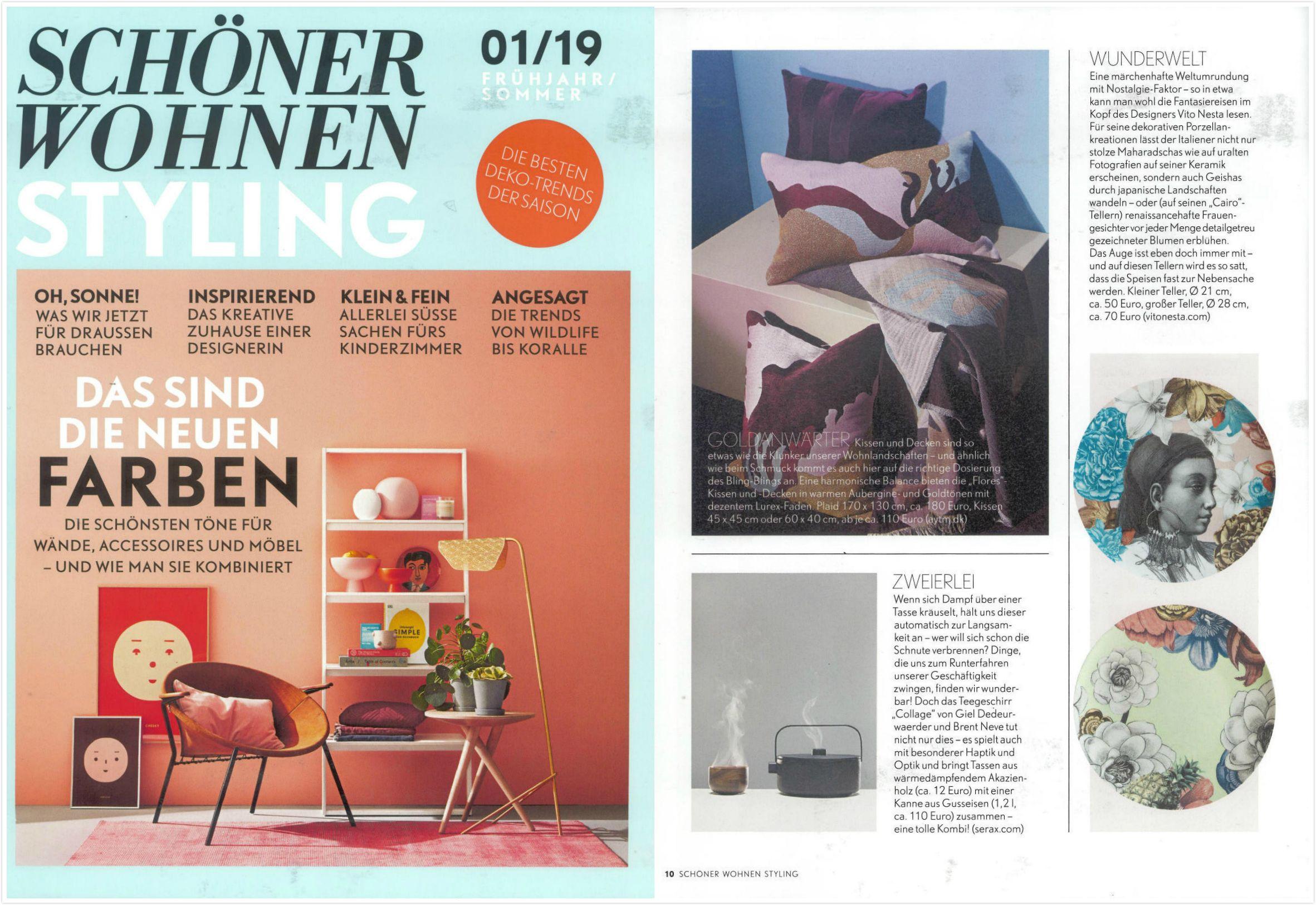 Aytm S Flores Series Mentioned In Schoner Wohnen Styling Summer Edition 2019 Design Home Decor Decor