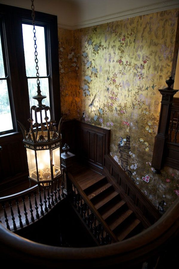 Elegant Stair Wallpaper By De Gournay I Know Its Beautifulbut I Cant Help But Be Afraid That It Is Haunted