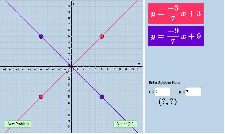 Solving Systems Of Linear Equations By Graphing Quiz V1 With Feedback Math Journals Graphing Linear System