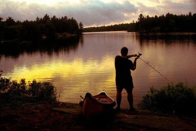 Kawartha Highlands - One last cast by Dave Noyle, via Flickr - Our cottage was in the Kawarthas.