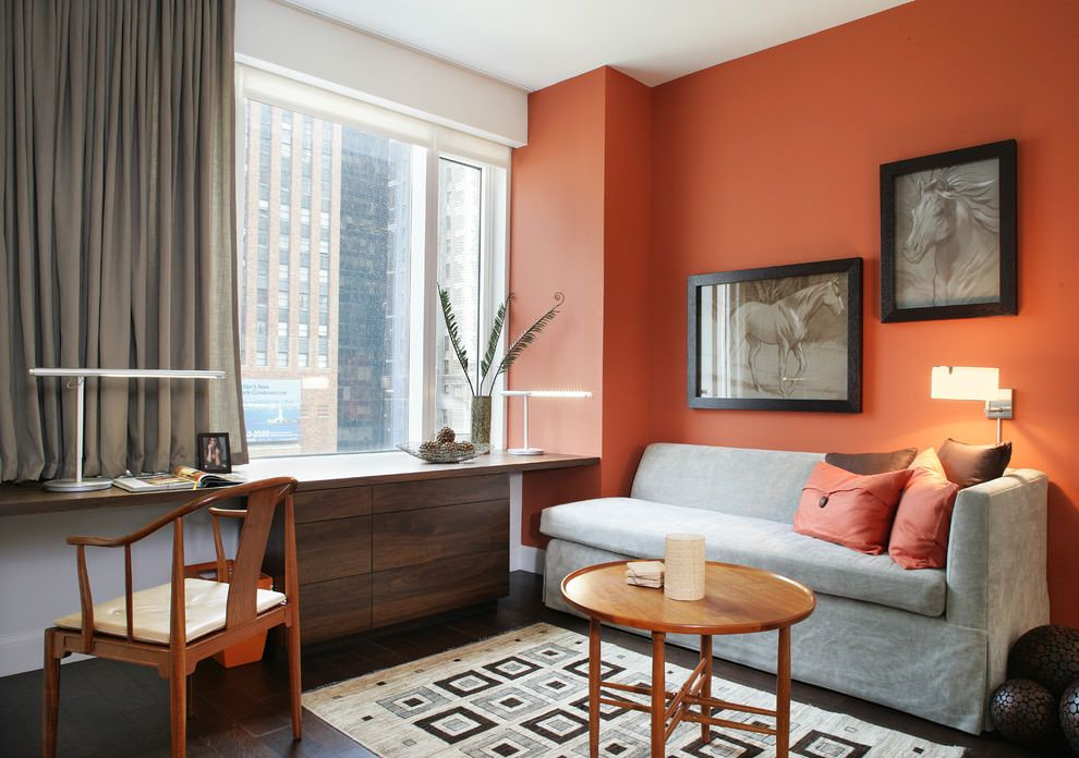orange home office. Orange Living Room Contemporary Home Office I