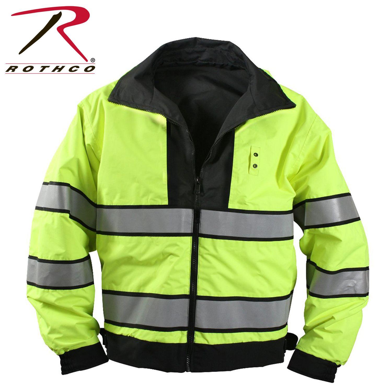 Rothco Reversible Hi Visibility Uniform Jacket Jackets Rothco Leather Flight Jacket