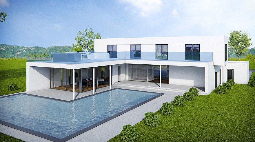 Ontdek Woningen Compere modellen - WC516 moderne warme huizen - facade de maison moderne
