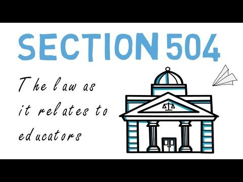 Section 504: Explained & Summarized - YouTube (With images ...