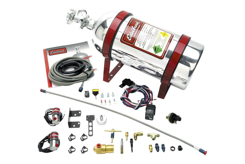 Edelbrock Performer Efi Wet Nitrous System Kit Nitrous Supercharger Twin Turbo