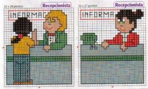 grafico de recepcionista