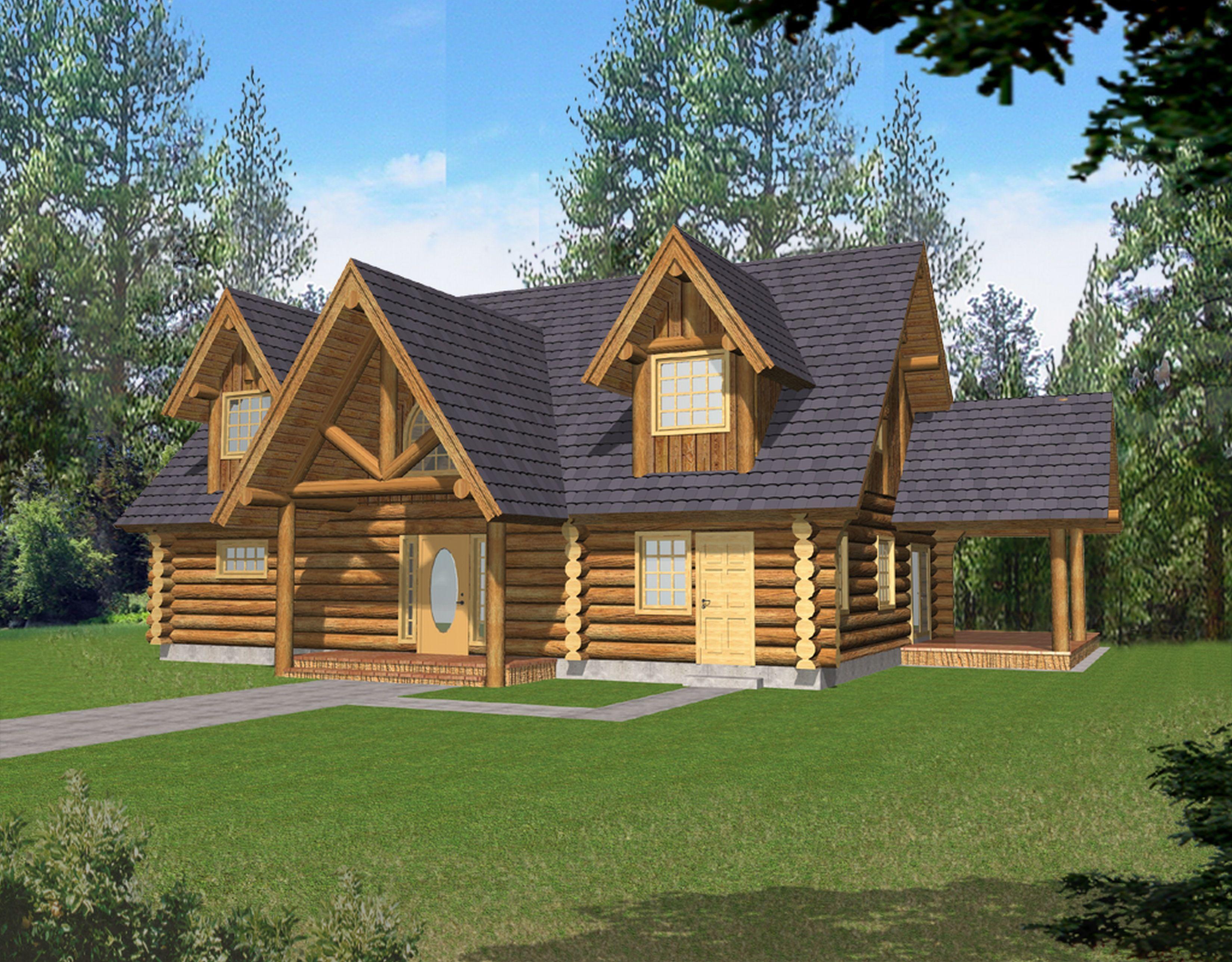 Northwestern log home toll free standard log homes