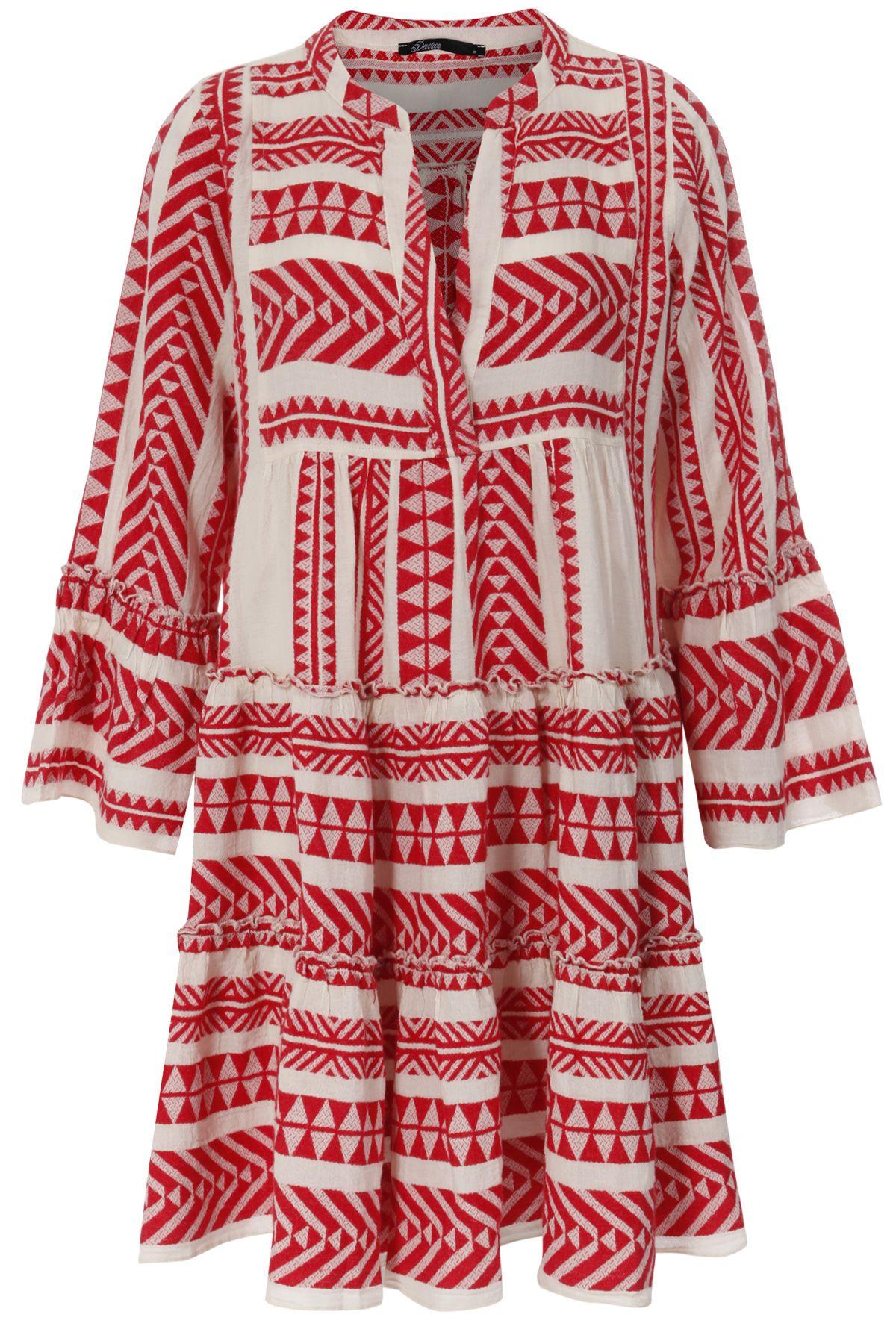 Gemustertes Tunikakleid Aus Baumwolle Rot Weiss Tunika Kleid Kleider Kleidung