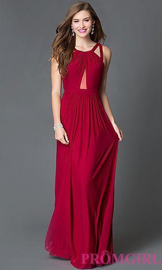 Long dresses with cutout backs