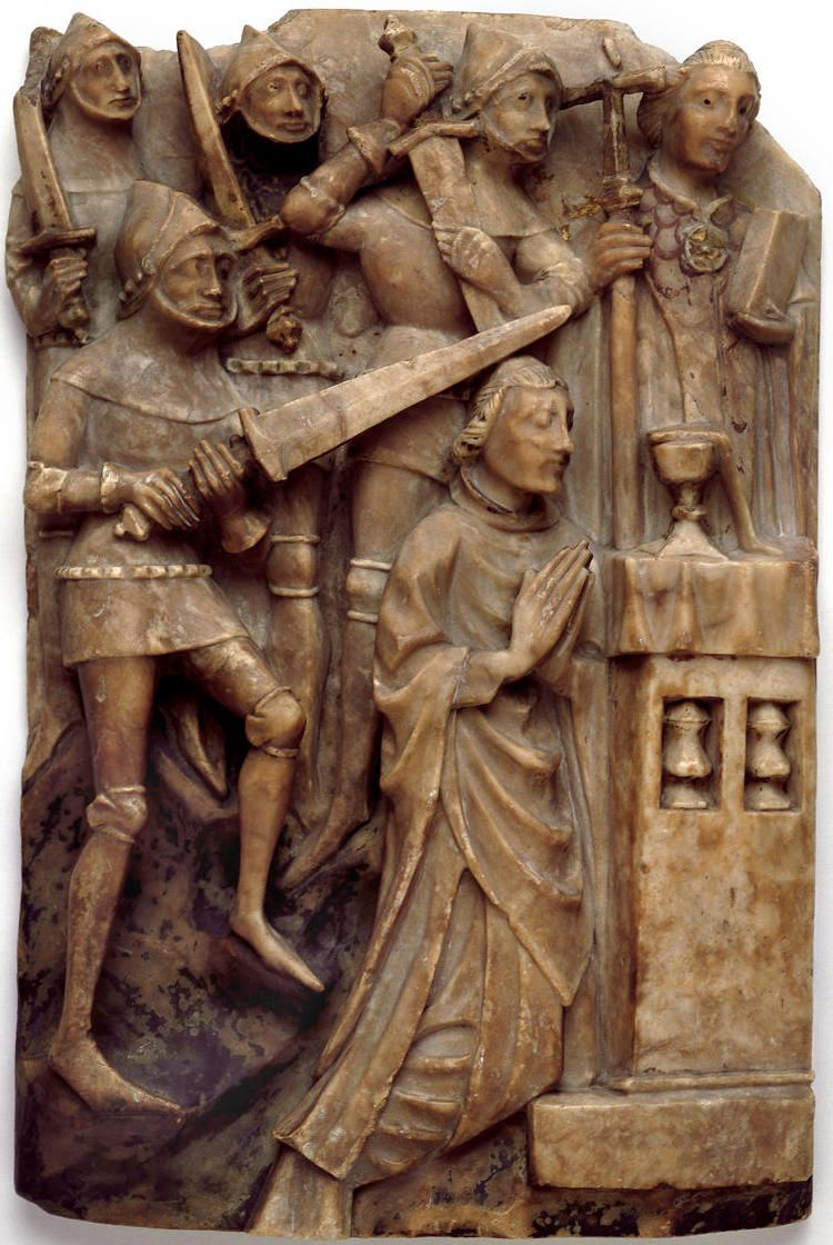 Alabaster Panel With A Scene Of The Martyrdom Of St Thomas Becket