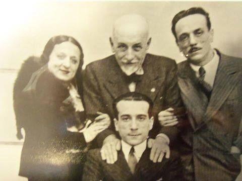 Pirandello con Titina, Peppino ed Eduardo DeFilippo