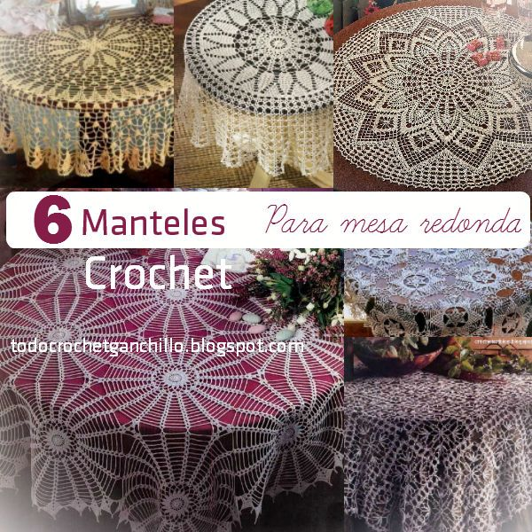 6 esquemas ganchillo de manteles para mesa redonda - Manteles para mesa ...