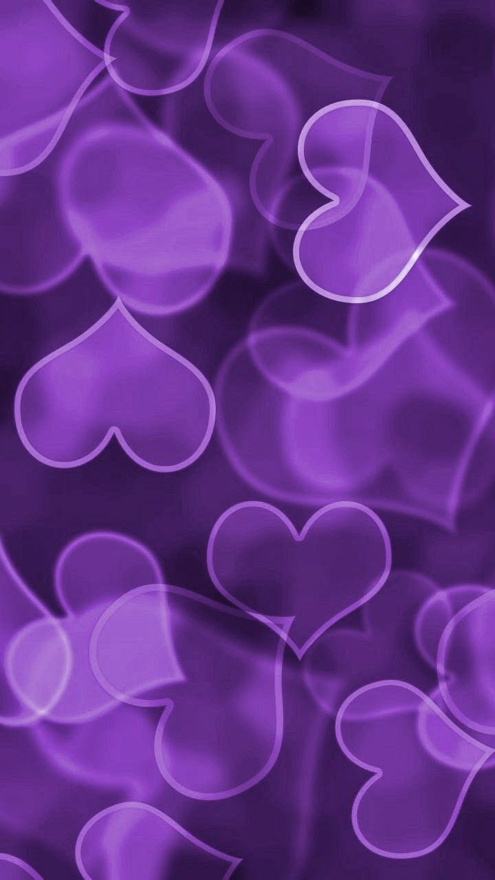 Purple Hearts Love Shades Of All Things