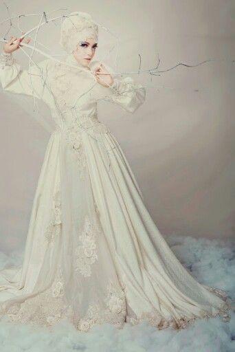 """THE UNTOUCHABLE ROSE"" & ""EGYPTIAN WINTER"" by Ayu Dyah Andari #modestbrides #modestbridal #modestfashion #modeststyle"