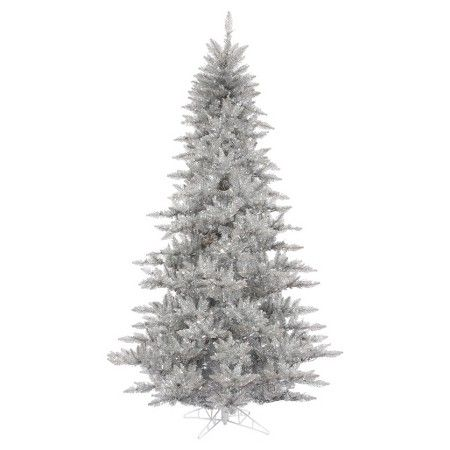 3 ft. Unlit Silver Fir Artificial Christmas Tree with a ...