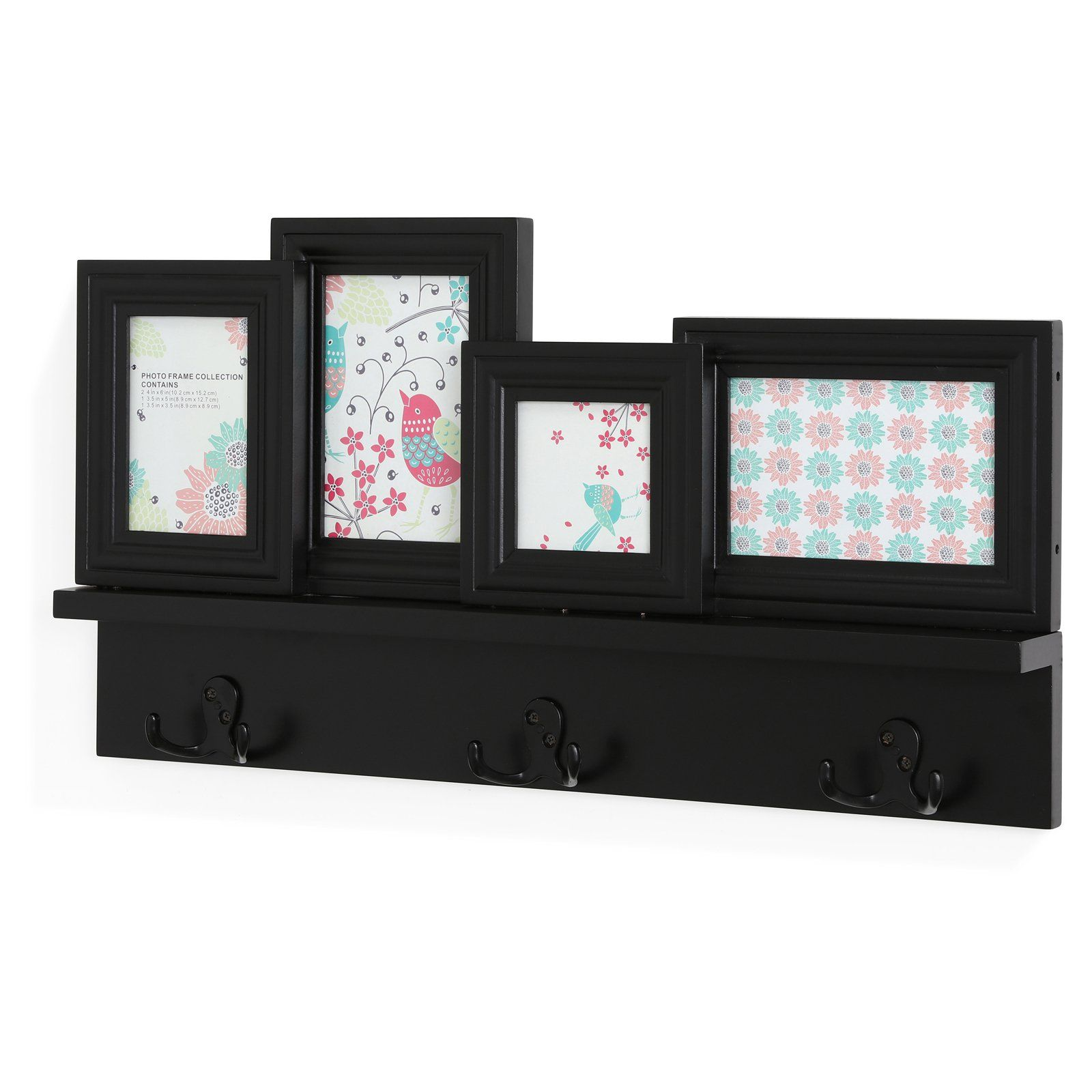 Danya B Wall Hanging Hooks With Built In Photo Frames Frames On Wall Picture Frame Display Frame