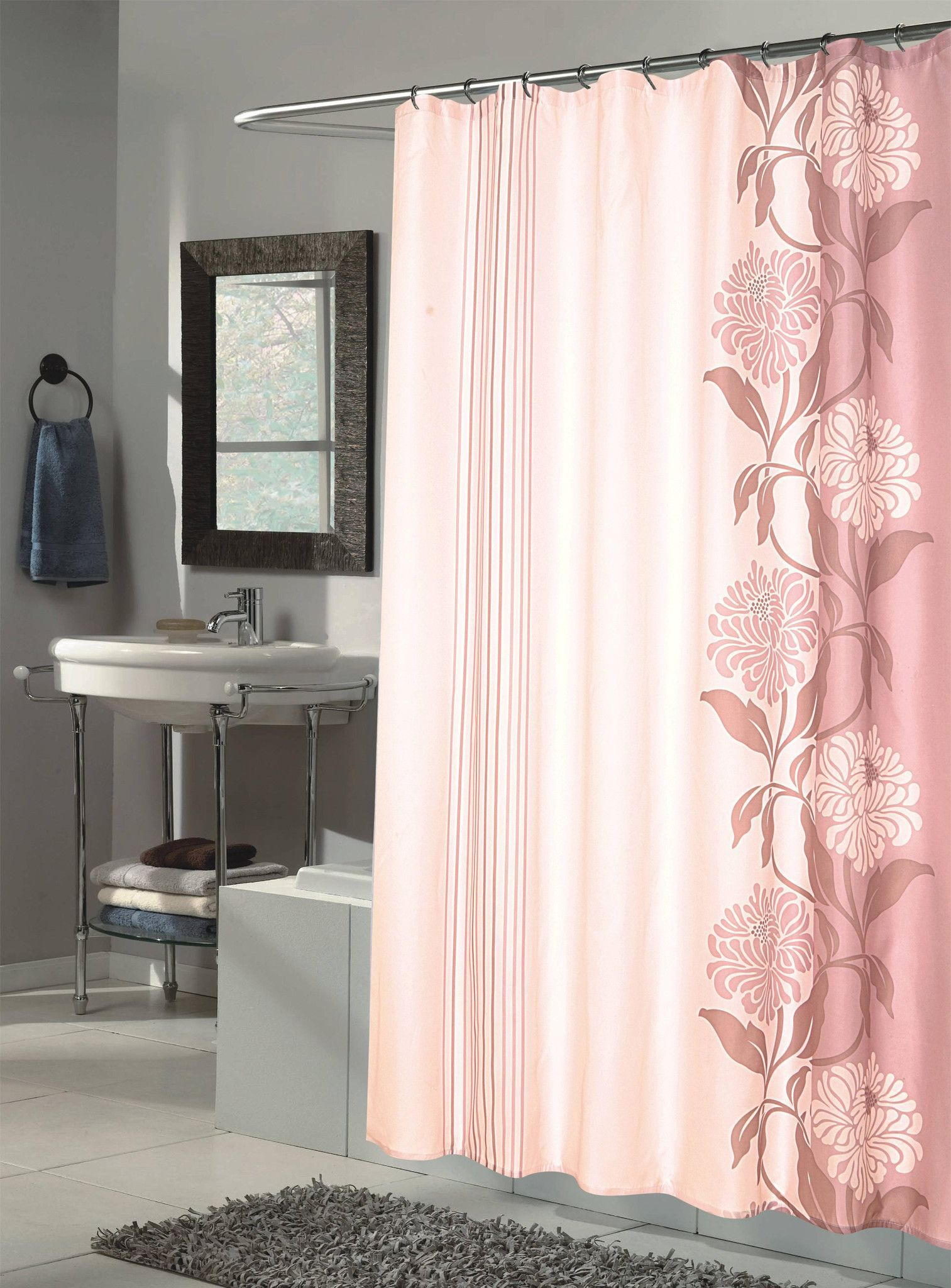 Royal Bath Extra Long Water Repellant Fabric Shower Curtain Liner ...
