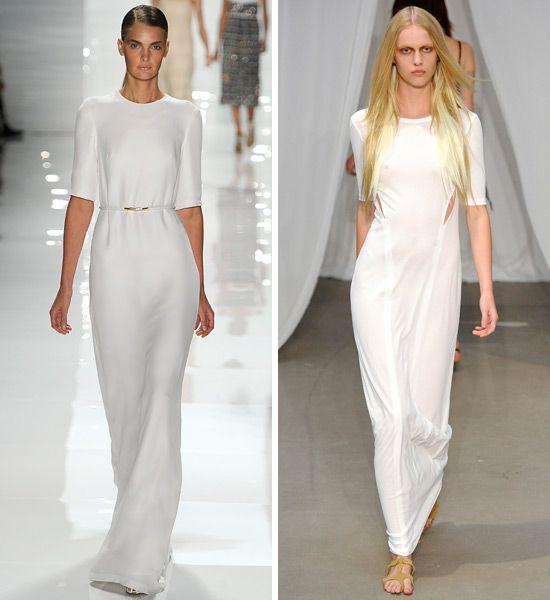 Derek lam white maxi dress