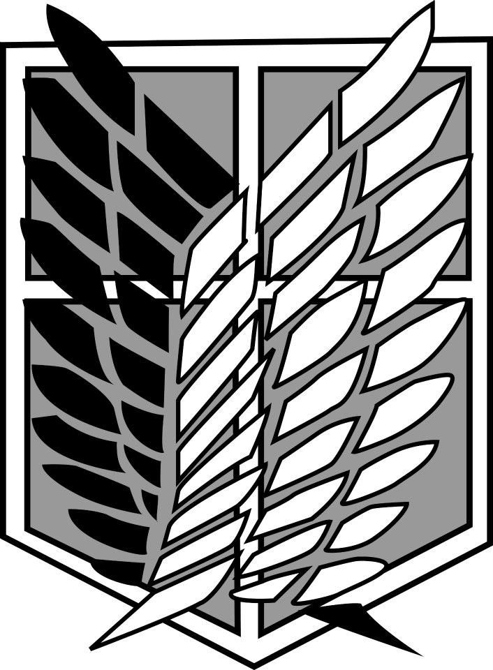 shingeki no kyojin: Scouting legion emblem by allenwalkeriskawaii on