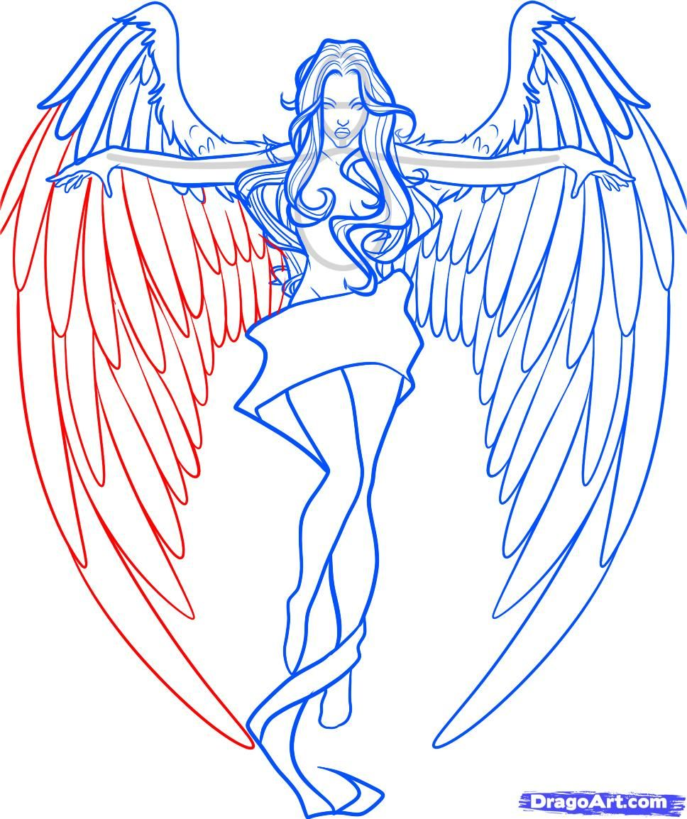 angel wings drawing - Google Search | Drawing Tips ...