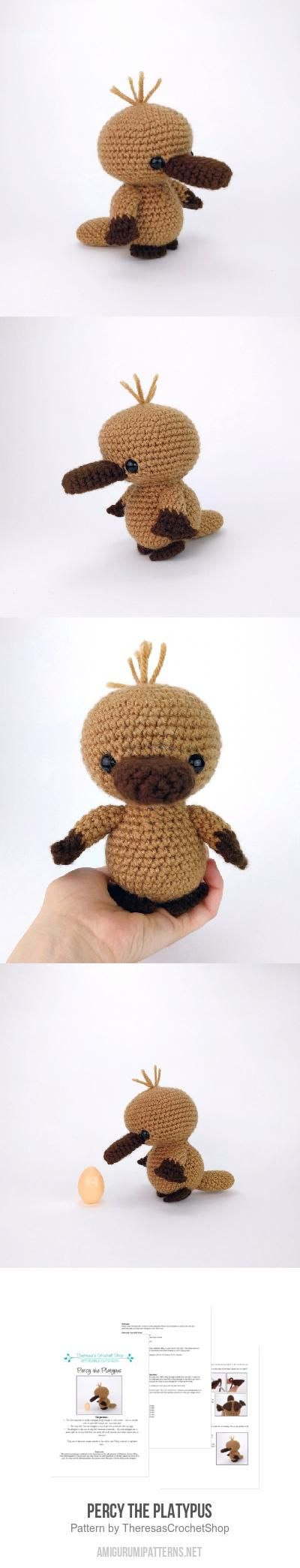 Percy The Platypus Amigurumi Pattern Crochet Some More Crochet