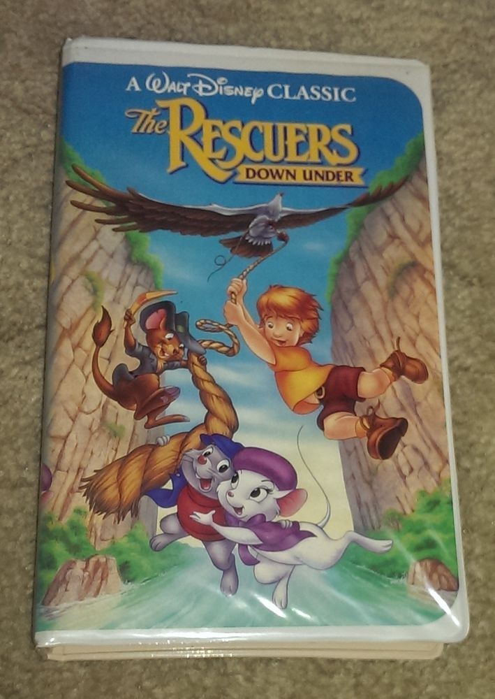 Walt Disney Black Diamond Edition The Classics The Rescuers Down Under Vhs Tape The Rescuers Down Under Classic Disney Movies Classic Disney