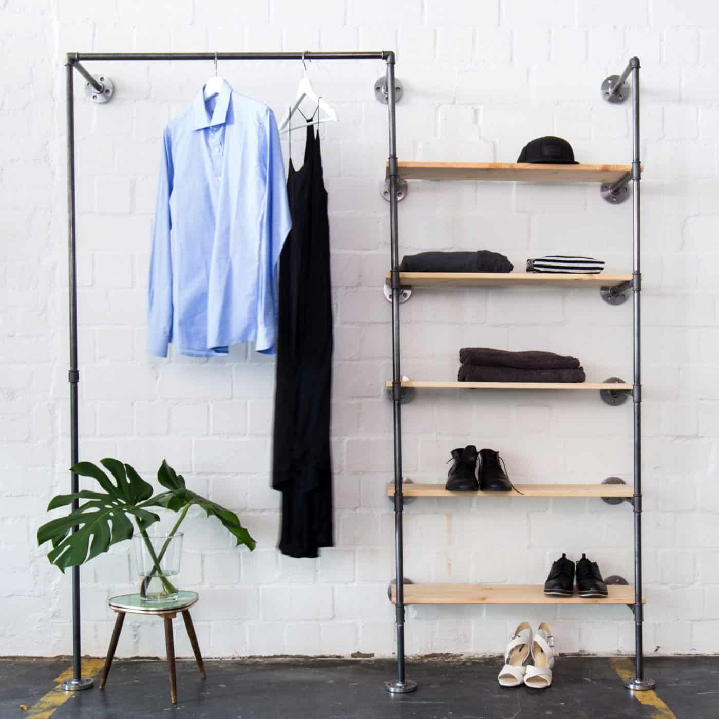 Offener Industriedesign Kleiderschrank Mit Regal Space Low