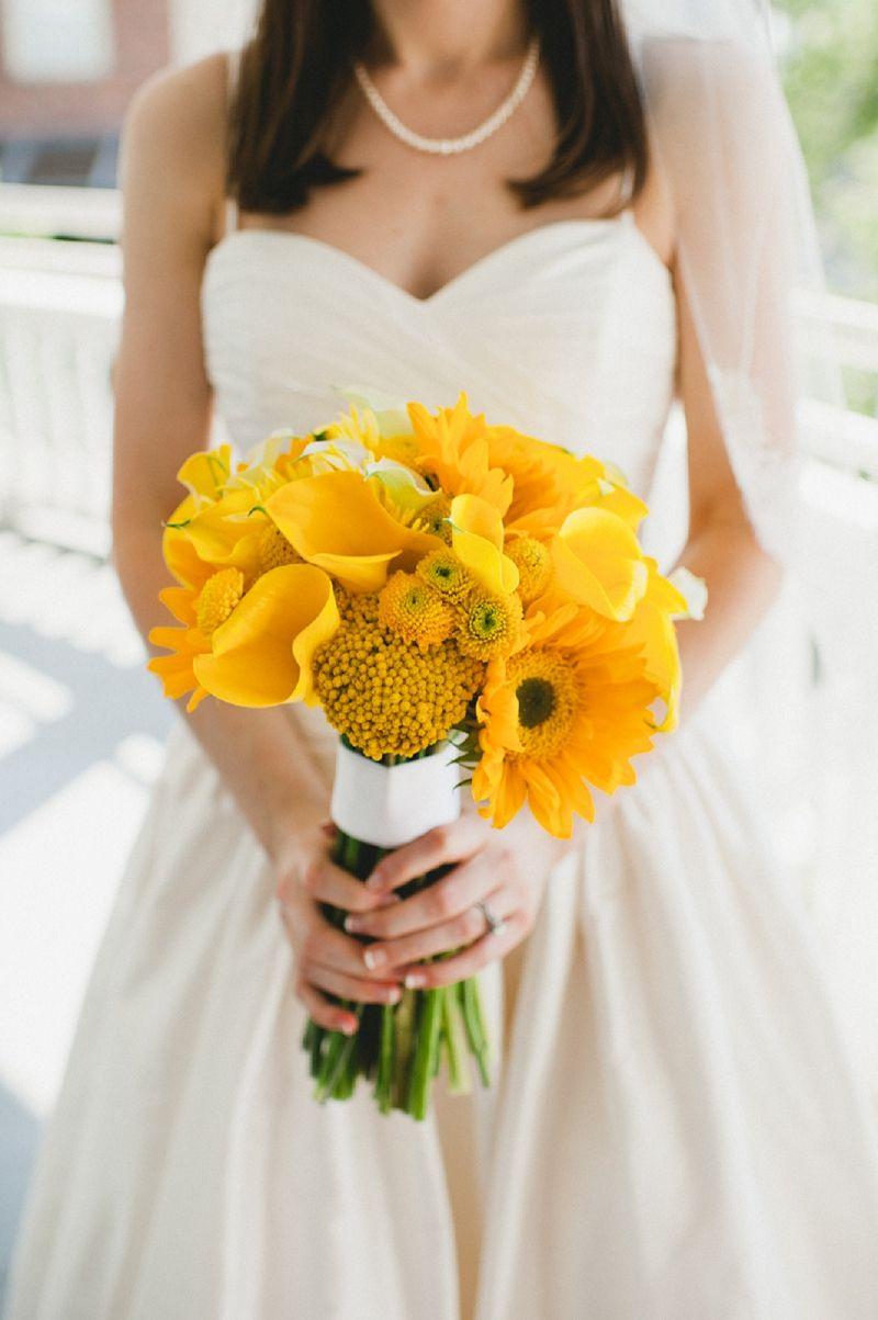Modern navy yellow alabama wedding pinterest yellow bouquets modern navy yellow alabama wedding beautiful bright yellow bouquet izmirmasajfo
