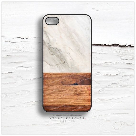 iPhone 6 Case iPhone 5C Case Marble Wood Print by HelloNutcase $19.00