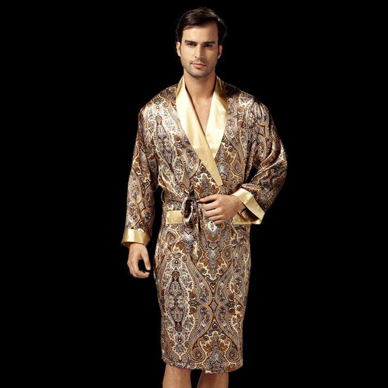 New Solid color Coral Velvet bathrobes Men Autumn gray casual simple ...