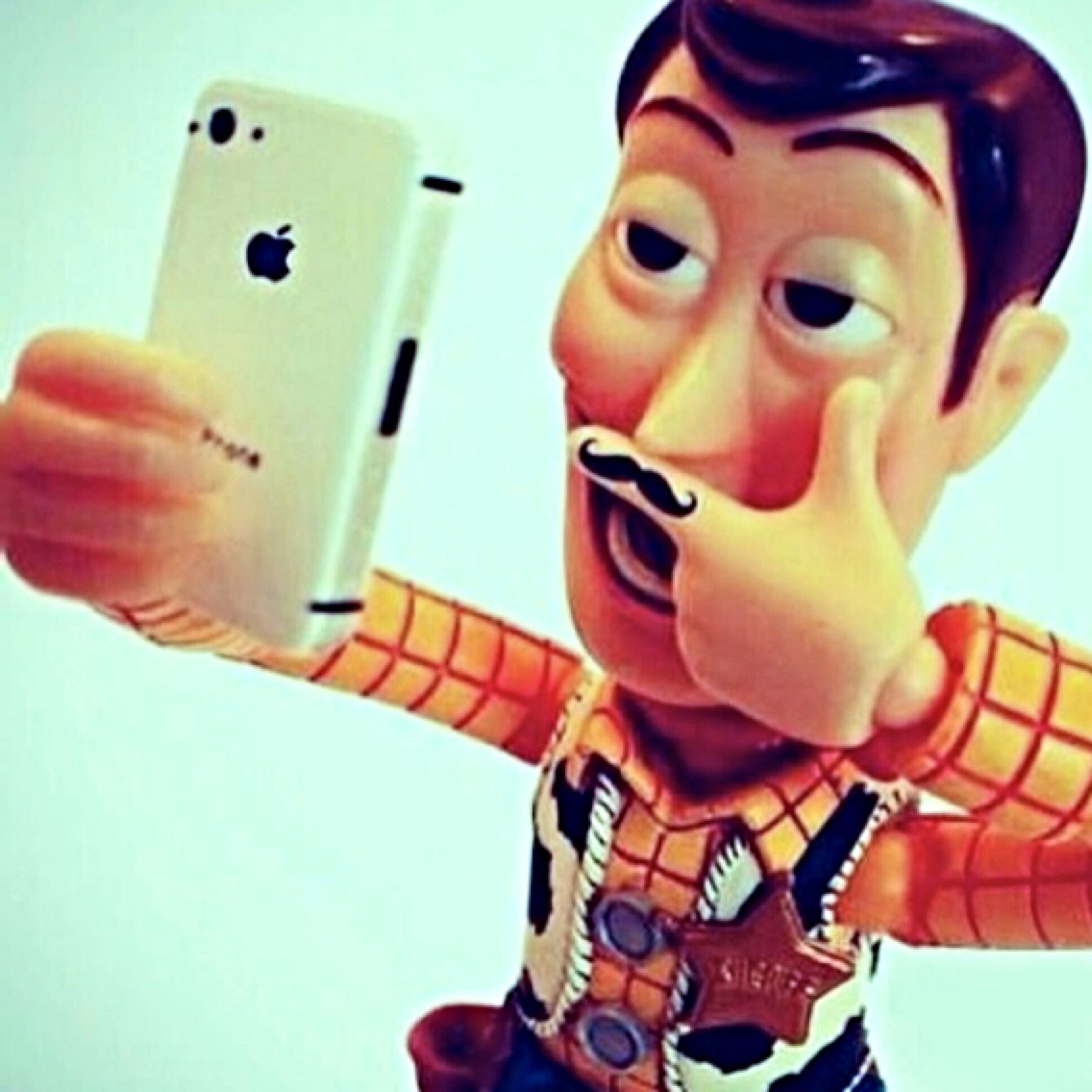 Apparently everyone takes a selfie. #Woody : )