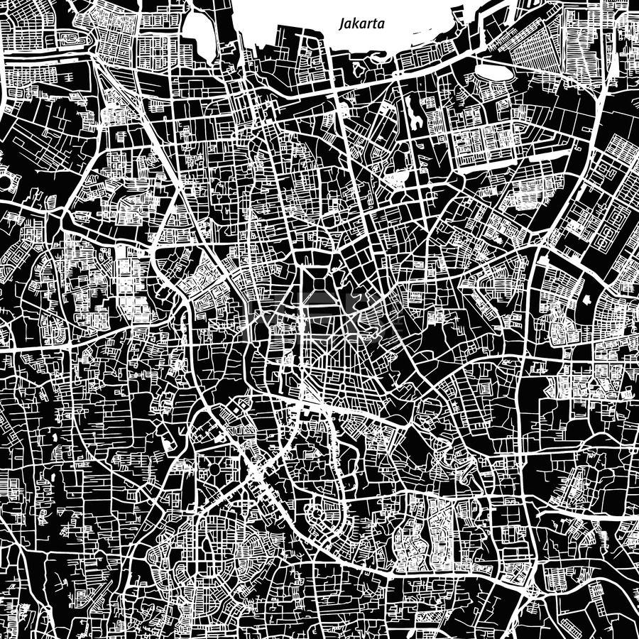 Stockimage from 099 Jakarta Vector Map Jakarta