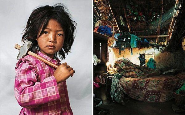 Where Children Sleep – Schlafplätze verschiedener Kinder weltweit. Indira in Katmandu, Nepal.