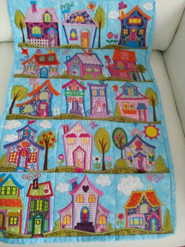 Neighbourhood quilt from Anita goodesign. | patchwork | Pinterest ...