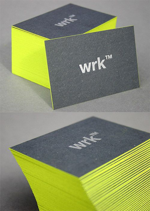 A Collection Of Attention Grabbing Neon Business Cards