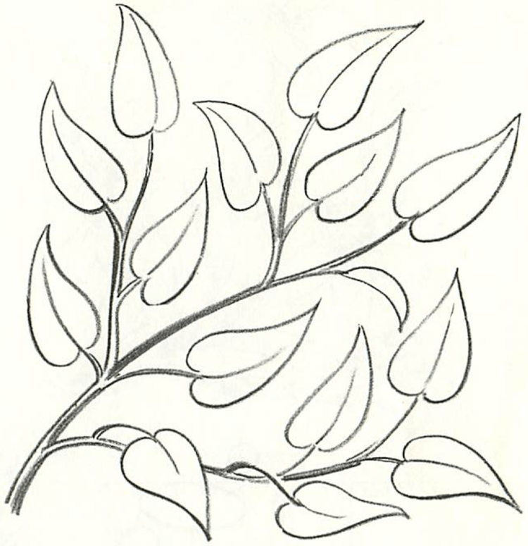 How To Draw Tree Branches Full Of Leaves Drawing Tutorial Drawing